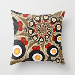 Brunch, Fractal Art Fantasy Throw Pillow
