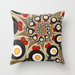 Brunch, Fractal Art Fantasy Throw Pillow