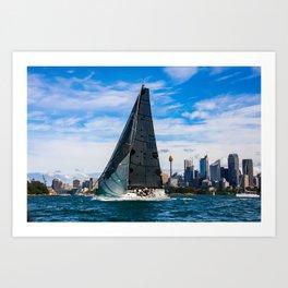 Winter Yachting on Sydney Harbour. Australia Art Print