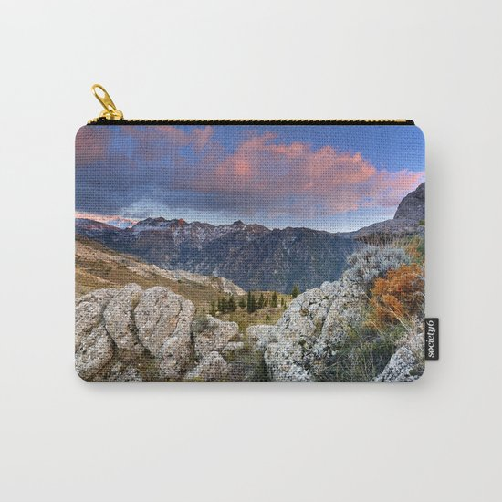 """""""Mountain Light"""". Sunset at the Alayos. Carry-All Pouch"""