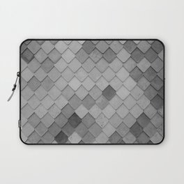 Fifty Gray Shades of Tiles (Black and White) Laptop Sleeve