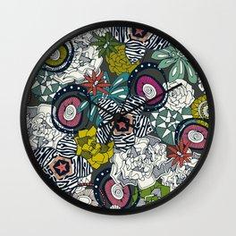 succulents multi dark Wall Clock