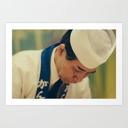 Kyoto Sushi Chef Art Print