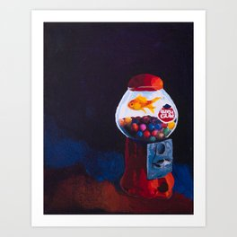 Bubblefish Art Print