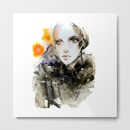 Fahion Illustration Valentino Metal Print