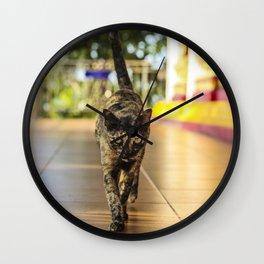 Fierce Kitty Wall Clock