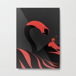 Sandworm. Dune Metal Print