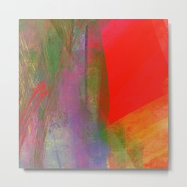 Folie abstraite-wild abstract-carré rouge Metal Print