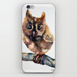 WATERCOLOR BABY OWL WOODLAND ANIMALS NURSERY COLLECTION iPhone Skin