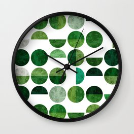 Jade circles Wall Clock
