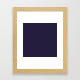 Dark Eclipse Blue Fashion Color Trends Spring Summer 2019 Framed Art Print