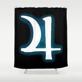Jupiter Jonze (halftone sigil) Shower Curtain