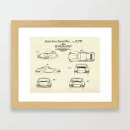 Automobile Porsche-1964 Framed Art Print