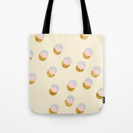 Gold and Pastel Tote Bag