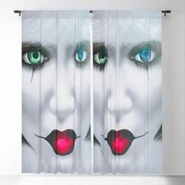 Harlequin Eyes Of A Different Color Blackout Curtain