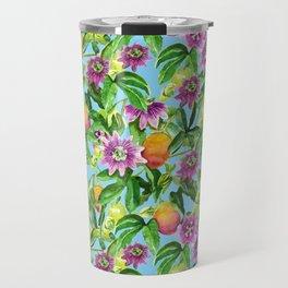 Passiflora vines light blue Travel Mug
