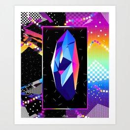 Retro Crystal Art Print