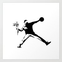 banksy Art Prints featuring #TheJumpmanSeries, Banksy by @thepeteyrich