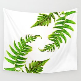 Fern on white - double Wall Tapestry