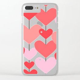 Heart Pattern 04 Clear iPhone Case