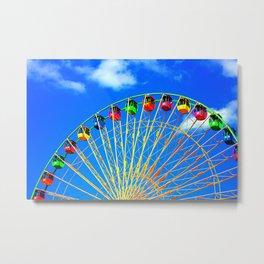 Colorful Ferris Wheel Metal Print
