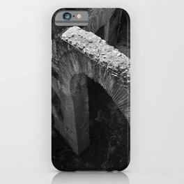 A gate at the Colosseum | Rome | B&W Travel Photography | Photo Art Print iPhone Case
