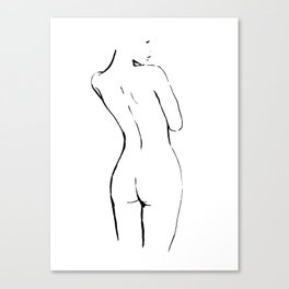 FEMALE NUDE ART Canvas Print