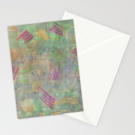 Multicolored abstract watercolor stains and brush strokes Stationery Cards