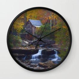 Glade Creek Mill in Autumn Wall Clock