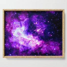 Purple Galaxy : Celestial Fireworks Serving Tray