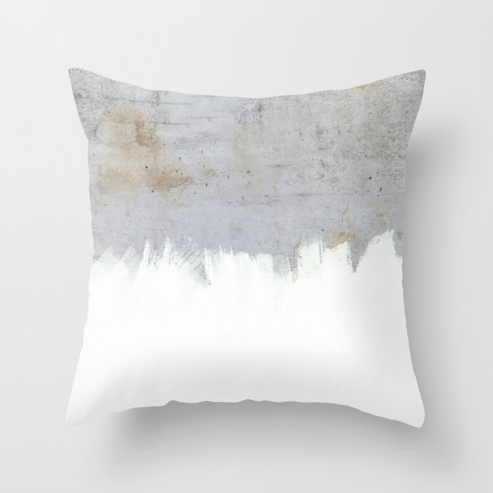 Painting on Raw Concrete Throw Pillow