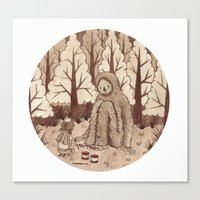 bigfoot Canvas Prints featuring Bigfoot by Najmah Salam