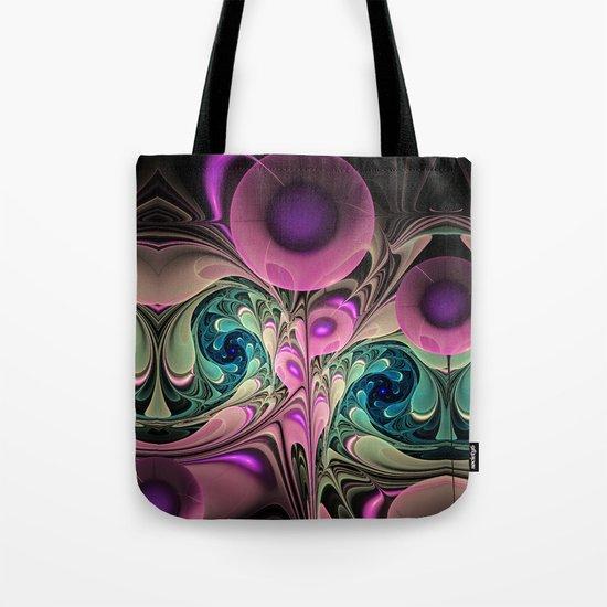 Evening Splendour, fractal abstract Tote Bag