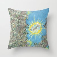 fairies Throw Pillows featuring Fairies by David Domike