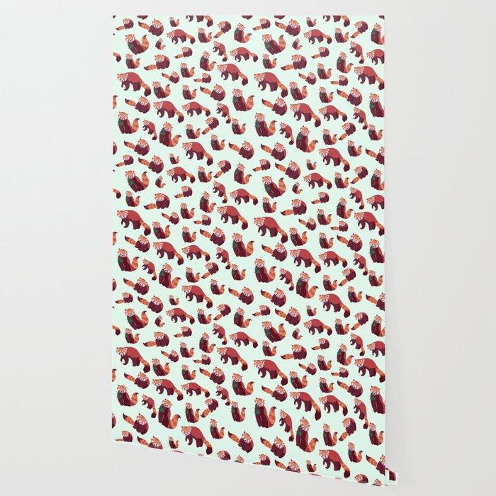 Red Panda Pattern Wallpaper