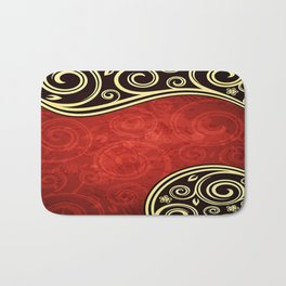 Abstract Vintage Floral Bath Mat