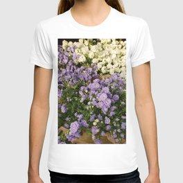 Purple and White Mini Roses T-shirt