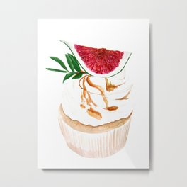 Fig Cupcake Metal Print