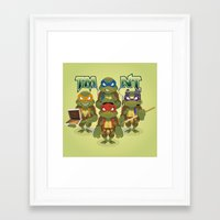tmnt Framed Art Prints featuring TMNT by Micka Design