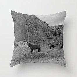 wild Horses Throw Pillow