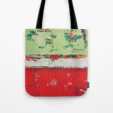 Dixon Red Green Abstract Painting Print Tote Bag
