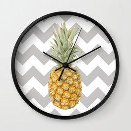 Pineapple & grey Wall Clock