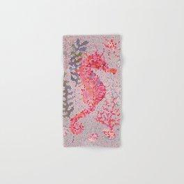 Mosaic Seahorse Hand & Bath Towel