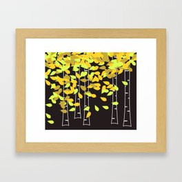 Autumn Birches Framed Art Print