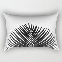 BLACK LEAVES ON WHITE Rectangular Pillow