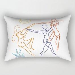 Summer dancers by the fire Rectangular Pillow