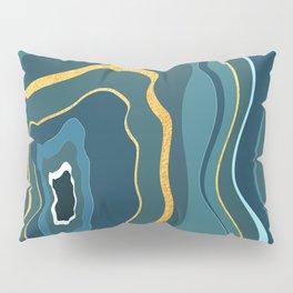 geode bleue Pillow Sham
