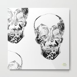 Skull Wallpaper [Pen Drawing with Digital Effects] Metal Print
