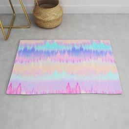 Pastel Rainbow Tie Dye Print Rug