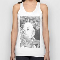 apollo Tank Tops featuring apollo & hyakinthos by Oxxygene